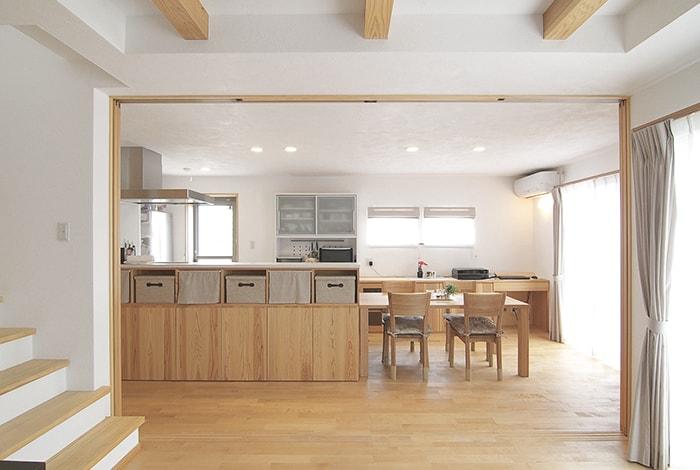 岐南町I様邸「キッチンに笑顔が集まる無垢の木の家」
