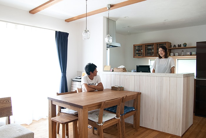 岐阜市K様邸「自然素材でつくる海辺のカフェのような家」