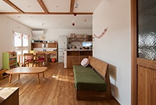 岐阜市O様邸「タイル使いの可愛らしいオーガニックカフェのような家」