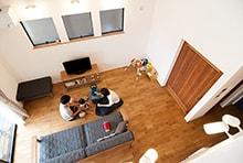 岐阜市M様邸「2.5階がある、縦空間を利用した開放的な家」