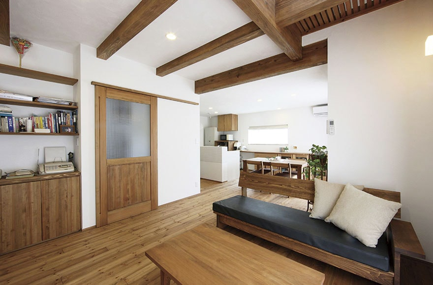 犬山市I様邸「漆喰と無垢の木の家」