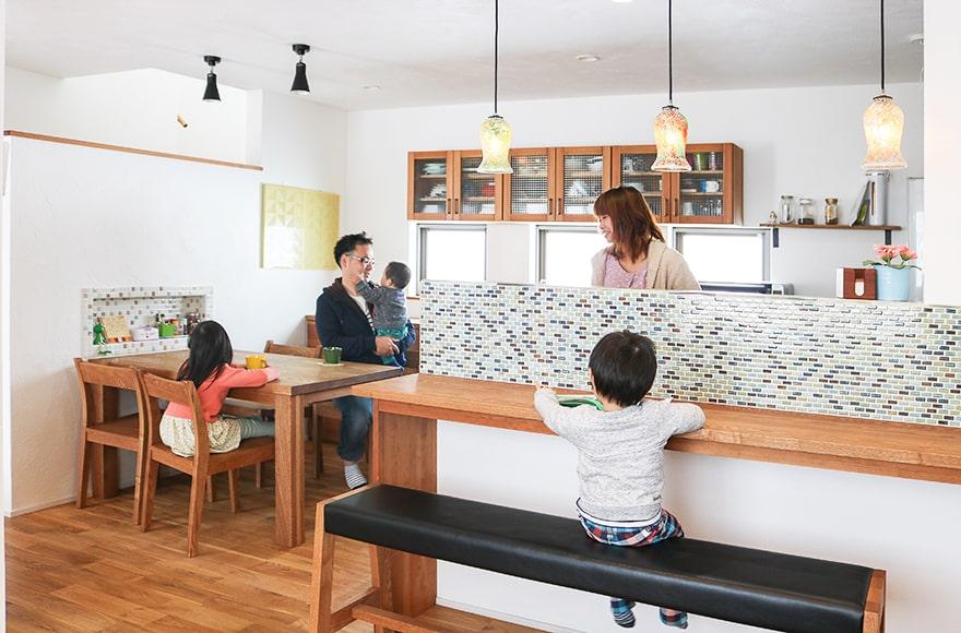 羽島市S様邸「動線も思いのままのタイル使いが爽やかな家」