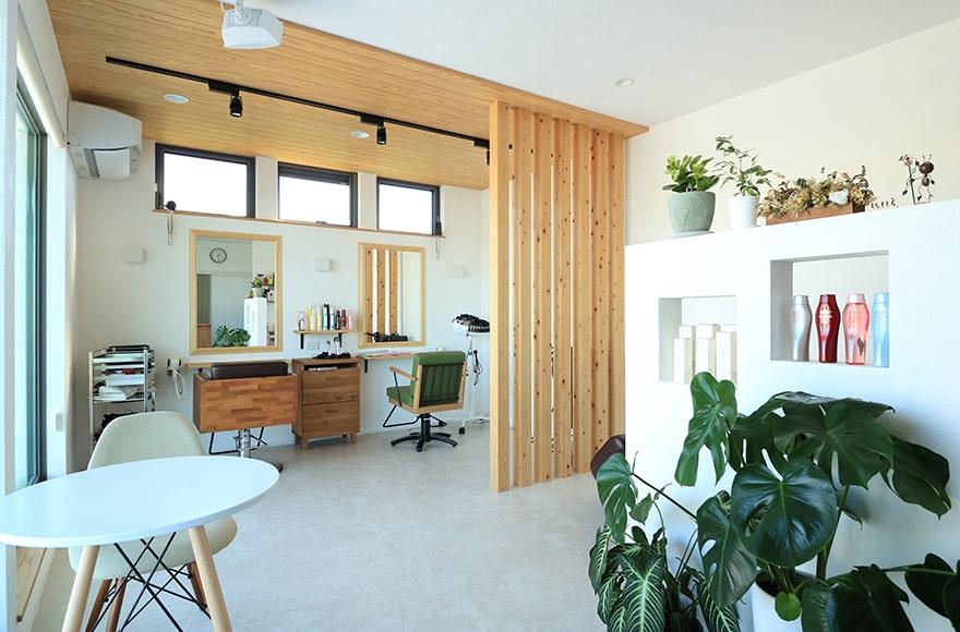 瑞穂市K様邸「美容院×住宅のオシャレなカフェ風の家」
