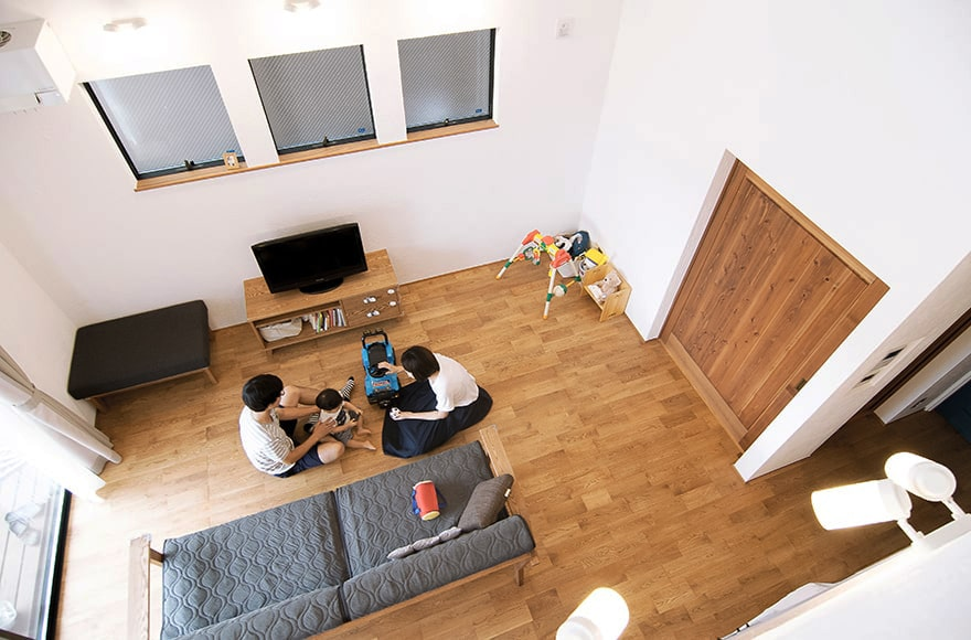岐阜市M様邸「中二階がある、縦空間を利用した開放的な家」